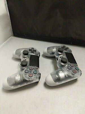 Sony DualShock 4 Wireless Controllers for PS4 - Crystal, lot of 2