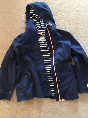 JOULES WOMENS COAST WATERPROOF COAT JACKET IN FRENCH NAVY Size 10