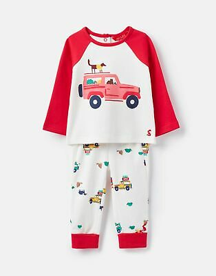 Joules 207317 Novelty Top And Trouser Set in CREAM SCOUT Size 6min9m