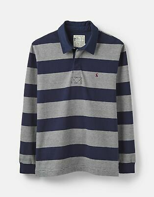 Joules 207007 Striped Rugby in CREAM NAVY Size M