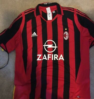 AC Milan Italy Home Jersey ZAFIRA  Never Worn! No Reserve!