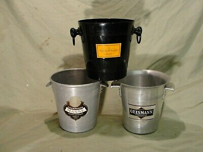 THREE VINTAGE CHAMPAGNE ICE BUCKETS in jolly good condition