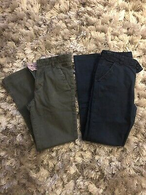 1 Ted Baker Boys Chinos Trousers in Grey & 1 pair of unnamed Age 9-10 Ex Cond