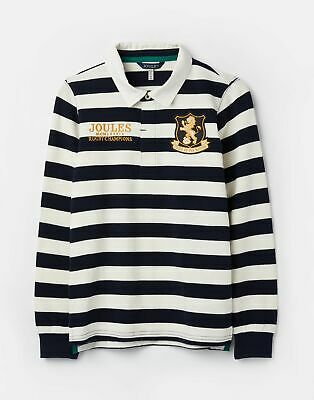 Joules 207200 Rugby Shirt in NAVY CREAM STRIPE Size 9yrin10yr