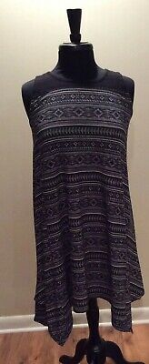 Girls' Size 16 Black White Mudd Sleeveless Knit Top Dress