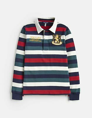 Joules 207200 Rugby Shirt in RED STRIPE Size 11yrin12yr