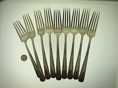 (9) Antique Towle Sterling Silver 7 1/4-Inch Dinner Forks