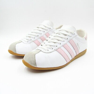 Mens Adidas Originals Rekord 2003 Trainers Leather Suede UK 8 White Pink 5210