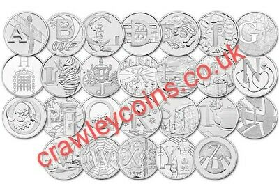 CHEAP 2018 - 2019 UK 10p TEN PENCE A-Z ALPHABET COINS ROBIN LOCHNESS ANGEL BOND