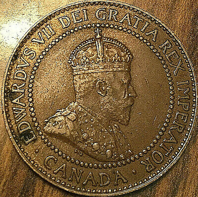 1910 CANADA LARGE CENT COIN LARGE 1 CENT PENNY - Excellent example!