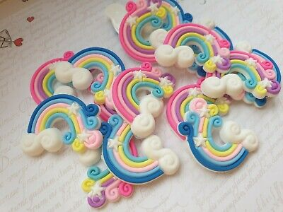 Cute Rainbow Resin Flatback Cabochon,Craft, Embellishment, Bow Accessories
