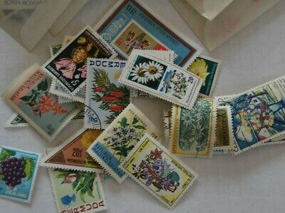 Topical Collection of 25 Different FLOWERS Combined Shipping