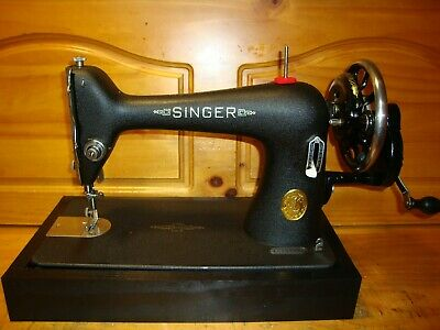 "1940 Wwii Singer Sewing Machine Model 66 ""Godzilla"", Hand Crank, Serviced"