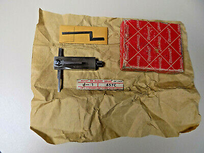 STARRETT 457C DIE MAKERS SQUARE MACHINIST TOOL Complete in Original Box Vtg USA