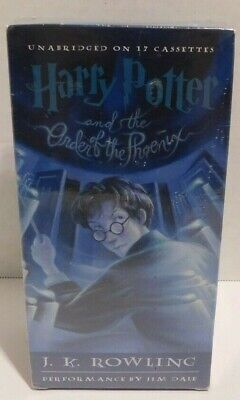 Harry Potter and the Order of the Phoenix by J. K. Rowling - Cassette Audiobook