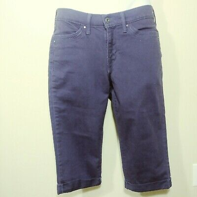 Levis 515 Womens Capri Rolled Jeans Purple Size 6, W28