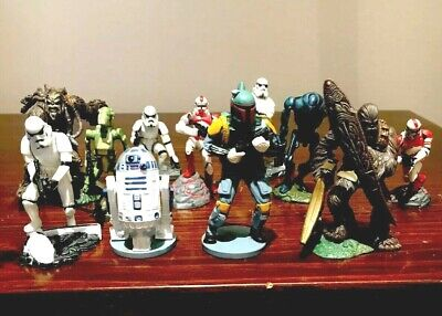 (Lot of 11) Star Wars Figure Lot by Hasbro - Clone Troopers, Droids & Wookies