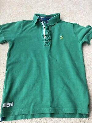Boys NEXT Green Polo T-shirt Age 8 In Great Condition