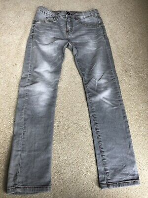 Boys ZARA Grey Jeans Age 9/10 In Good Used Condition