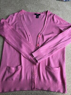 Girls GAP Pink Lightweight Cotton Cardigan Age 12 In Great Used Condition