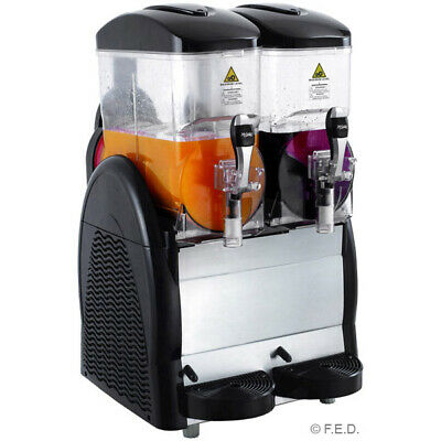 Double 12 Litre Granita & Slushy Machine for Restaurant and Catering Use