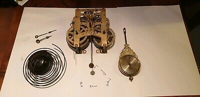 Antique New haven  parlour clock movement with Hands and gong and pendulum