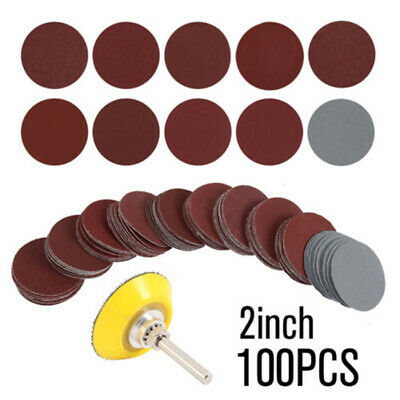 Hook Loop Sanding Discs Sandpaper Shank Polisher Sander Carpentry Tool