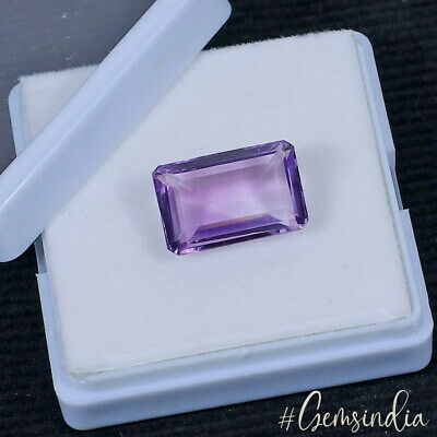 14.55 Ct Natural Purple Amethyst Untreated Top Grade Emerald Cut Huge Gemstone