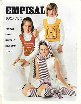 Vintage machine knitting book Empisal knitwear collection for children late 70's
