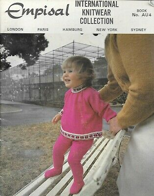 Vintage machine knitting book Empisal knitwear collection for baby toddler 1970s