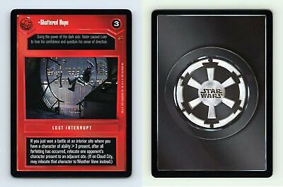 Star Wars CCG Cloud City Card Shattered Hope