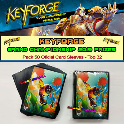 KEYFORGE 2019 GRAND CHAMPIONSHIP - Pack 50 Oficial Card Sleeves Sealed TOP 32 A