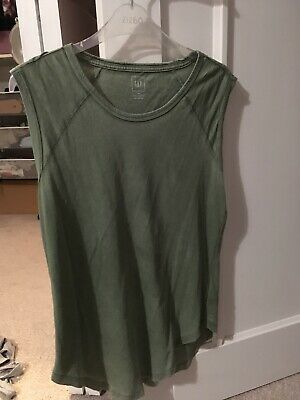 Gap Distressed Look Kahki Vest Top