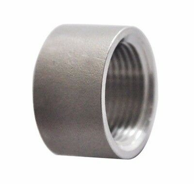 """Stainless Steel 304 Fitting 3"""" Inch Half Full Coupling Class 150 Heavy Duty"""