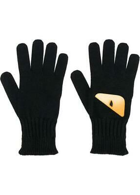 Fendi Monster Eye Wool Knit Gloves