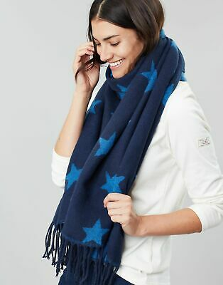 Joules Womens Mardale Reversible Scarf in NAVY STAR in One Size