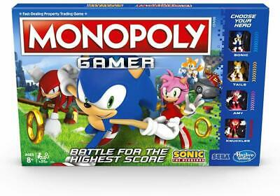 Monopoly Gamer Sonic The Hedgehog Edition Board Game Mono Poly Age 8+ Hasbro