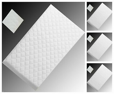 Thick Crib Quilted Breathable Cradle swing Pram Cot Mattress All Size Available