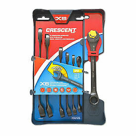 Crescent CX6RWS7 Combination Wrench Set with Ratcheting Open-End and Static