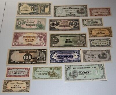 JAPAN Japanese Invasion Money from WWII JIM 17 Notes JIM #1