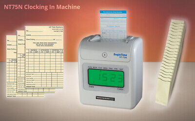 Top Quality Clocking In Machine (Free Card Rack and 200 Time Cards)