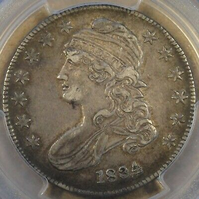 1834 Sm. Date Sm. Letters Capped Bust Half Dollar 50c O-112 PCGS Certified XF45