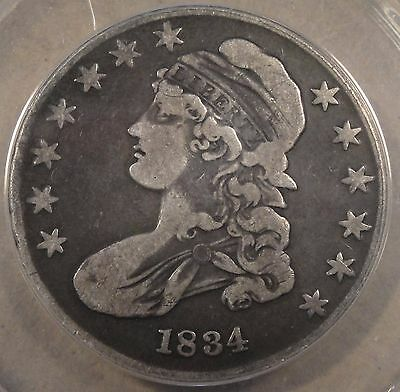 1834 Small Date Bust Half Dollar 50c  ANACS Certified VF 25