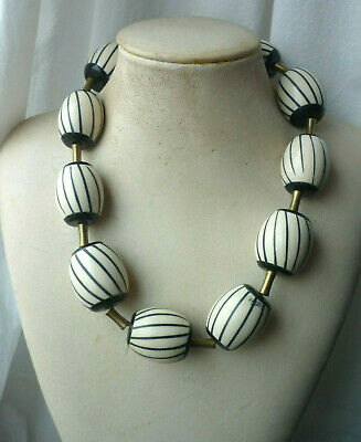 TOLLE KETTE HORNPERLEN !! TRADE BEADS Afrika