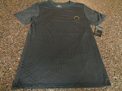 NIKE DRY BASKETBALL Men Small T shirt Dark Gray NWT Dri fit