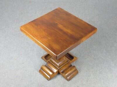 Vintage Small Table Rustic Wooden Solid Wood Art Poor Period Xx Century