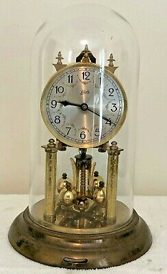 Vintage Schatz 400 Day Anniversary Glass Dome Clock Germany