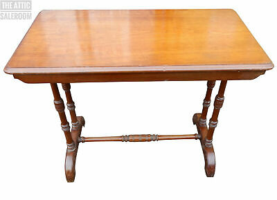 Charming Old Antique Victorian Mahogany Side End Hall Console Table