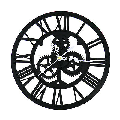 30cm Acrylic Skeleton Gear Numeral Wall Clock Round For Steampunk Home Decor