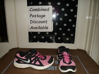 NIKE Revolution 2 Light Weight Running Trainers. Size 1. Pink & Black